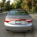 2013 Hyundai Azera: Unusual rear-light panel.