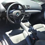 BMW 135is Straightforward steering wheel, driver's seat.