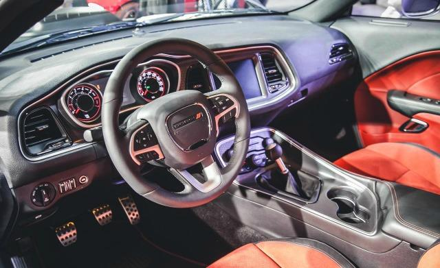 The 2015 Dodge Challenger has a sports car-style interior.