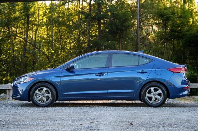 The 2017 Hyundai Elantra Eco is rated at 40 mph in highway driving.