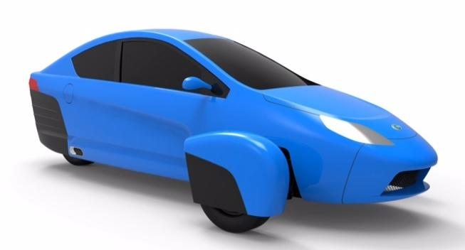 The Elio Motors' three-wheel concept vehicle will be displayed at the Los Angeles Auto Show