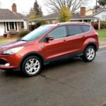 One attractive exterior color of the 2014 Ford Escape is Sunset Metallic.