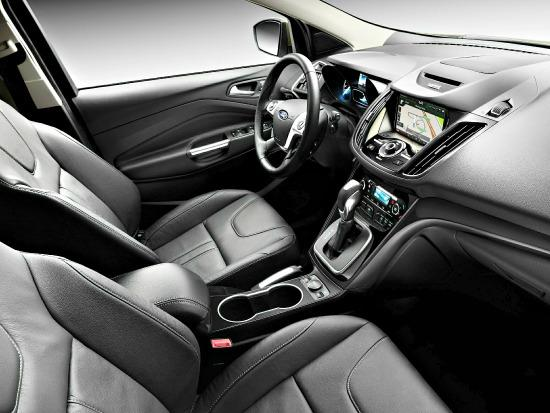 The 2014 Ford Escape has a straightforward interior.