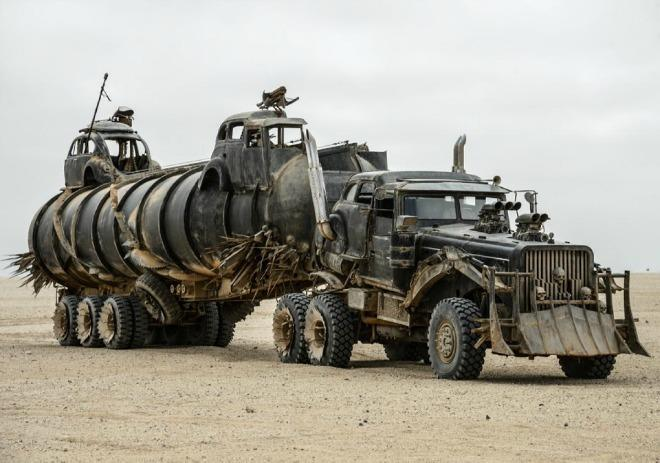 Part of the vehicle entourage in Mad Max: Fury Road.