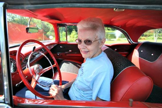 Grace Braeger and her 1957 Chevrolet Bel Air