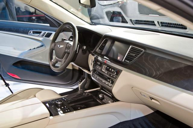 The interior of the 2015 Hyundai Genesis is plush.