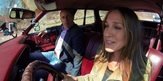 Jerry Seinfeld and Sarah Jessica Parker are all laughs in the season opener of Comedians In Cars Getting Coffee.