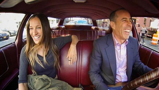 Sarah Jessica Parker and Jerry Seinfeld in the season opener of Comedians In Cars Getting Coffee.
