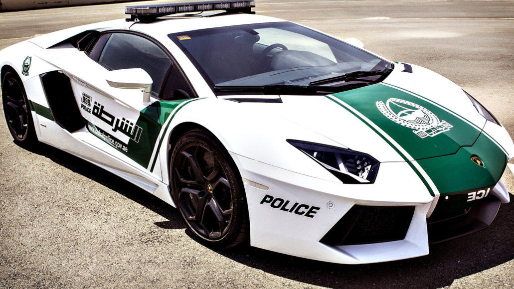 Lamborghini is among many exotic police cars in Dubai