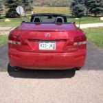 The retractable hardtop fits in the trunk of the 2014 Lexus IS 350C.