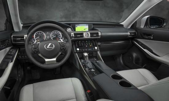 The handsome interior of the 2014 Lexus IS.