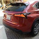 The new taillights on the 2015 Lexus NX lineup.