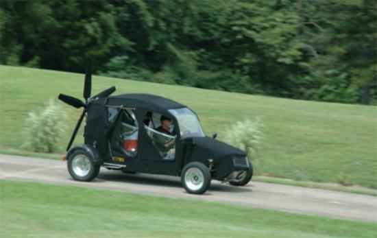 The roadable and flying Maverick vehicle.
