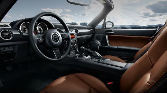 The interior of the 2014 Mazda MX-5 Miata.