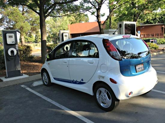 The Mitsubishi MIEV, a sbort-range electric vehicle.