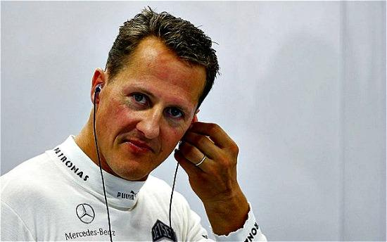 Michael Schumacher remains in a coma in France.