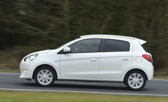 The 2014 Mitsubishi Mirage is thrifty.