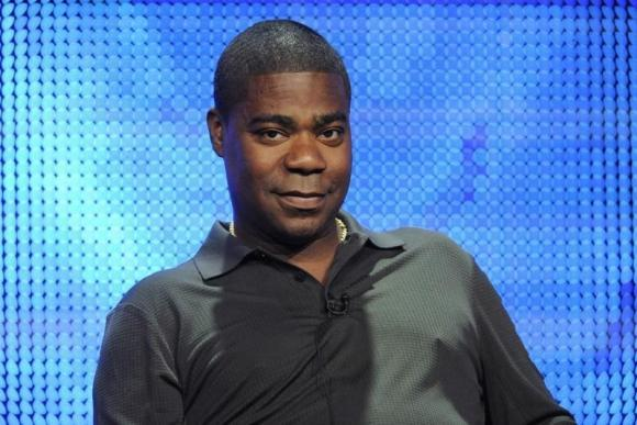 The condition of Tracy Morgan has improved and his sense of humor is back.