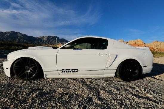 The custom-made Mustang will be given away.