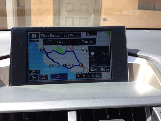 The navigation system in the 2015 Lexus NX 200t Sport.