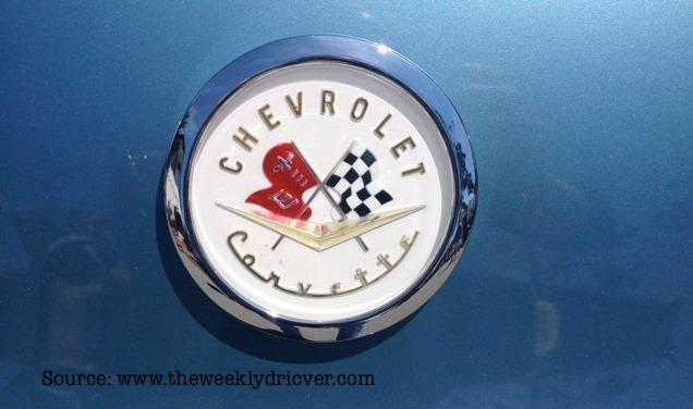 One of several badges used on the Chevrolet Corvete.