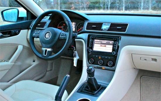 The 2014 Volkswagen Passat has a slick, Euro-style interior.