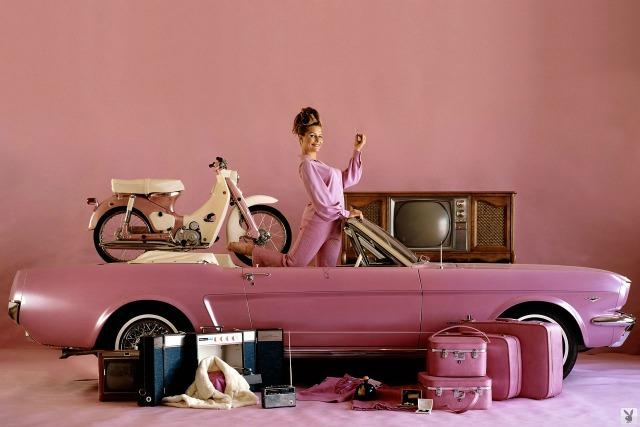 A 1964.5 Mustang was the first car awarded to a Playmate of the Year.