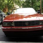 The Cadillac Allante feature a wide, but narrow front grille.