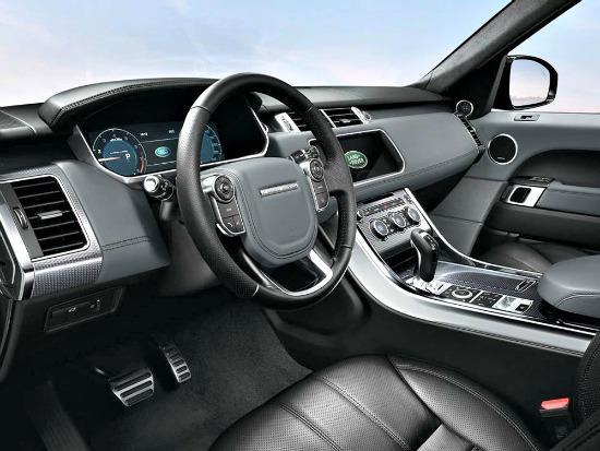 2014 Range Rover Sport interior.