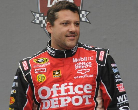 Tony Stewart is know n for his aggressive style and short temper.