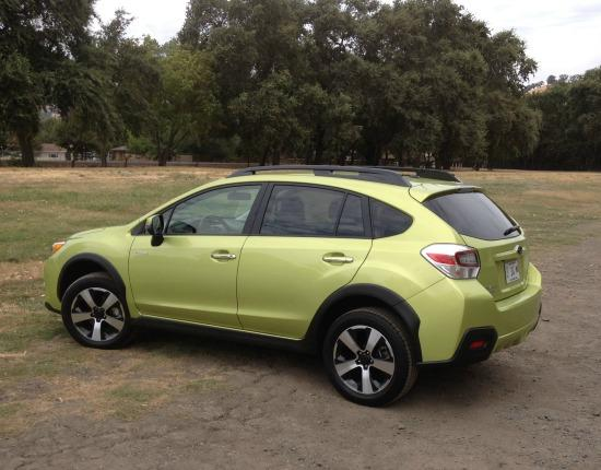 The 2014 Subaru XV Crosstrek Hybrid has more than eight inches of clearance.
