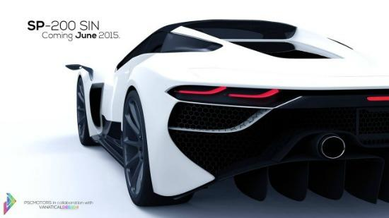 The PSC 200 SIN hybrid supercar has a predicted top speed of more than 280 mph.