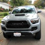 The 217 Toyota Tacoma TRD PRO has an exterior color option called Cement.