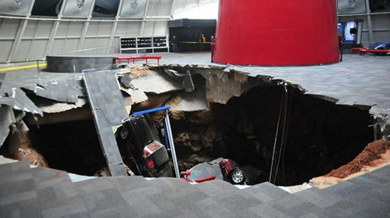gluttonous sink hole eats eight rare Corvettes