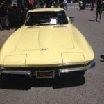 A vintage C2 Corvette at Concours on the Avenue